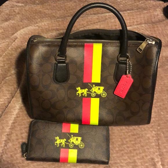 Coach Handbags - Coach handbag & wallet